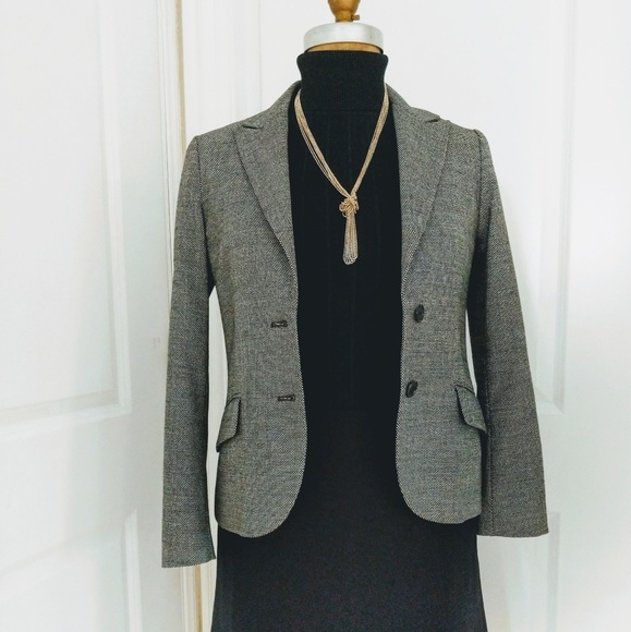 456a3759ac50 Theory Jackets & Coats | Wool Blend Micro Dot Suit Jacket Size 6 ...